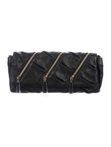 5e8391626a38 Christian Louboutin. Leather Zip Clutch