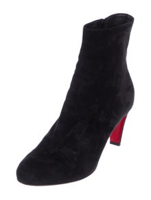 615dc56db9fa Christian Louboutin. Suede Ankle Boots
