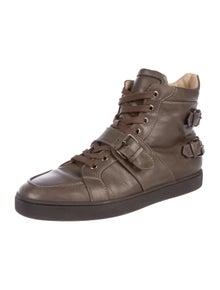 1b6b51f1156d Christian Louboutin. Leather High-Top Sneakers