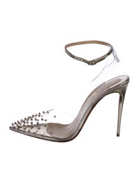timeless design e5bab c7801 Christian Louboutin Spikoo 100 PVC Pumps w/ Tags - Shoes ...