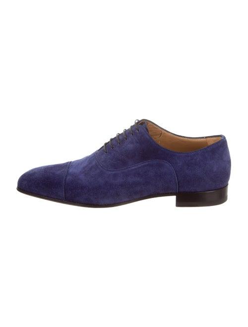 Christian Louboutin Greggo Suede Dress Loafers blu