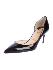 76f0d6145b24 Christian Louboutin. Patent Leather Semi d Orsay Pumps