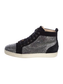 16cac610df0e Christian Louboutin. Suede Embellished Sneakers