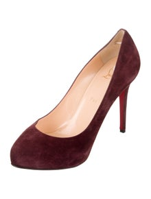 b6ab6a0307a1 Christian Louboutin. Suede Pointed-Toe Pumps