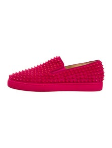 a12b5fe893c4 Christian Louboutin. Suede Spike Sneakers