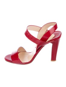 5bd5fe5ad398 Christian Louboutin. Patent Leather Slingback Sandals