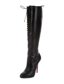 64c8f06f5629 Christian Louboutin Leather Knee-High Boots   The RealReal