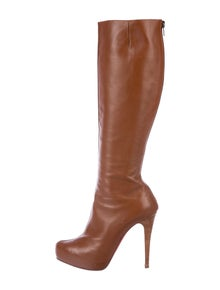 47689fe752b9bc Christian Louboutin. Leather Knee-High Boots