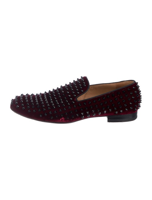 1f11fff82f3 Christian Louboutin Spiked Velvet Loafers - Shoes - CHT136391 | The ...