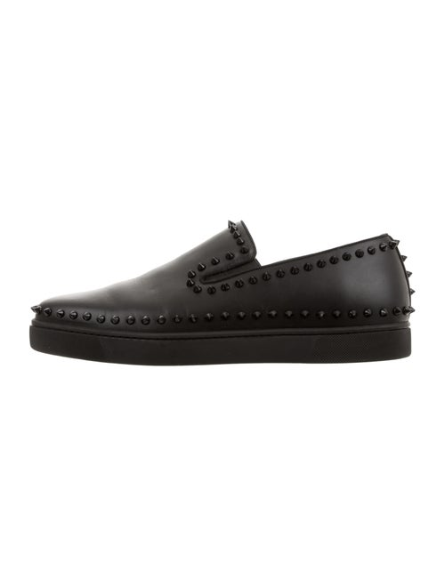 525dd72234f Christian Louboutin Pik Boat Spiked Slip-On Sneakers - Shoes ...