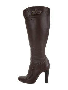 24aecd338f7 Christian Louboutin Leather Knee-High Boots | The RealReal
