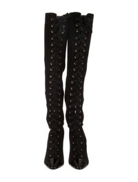 official photos e9374 07979 Christian Louboutin Frenchie 100 Knee-High Boots w/ Tags ...