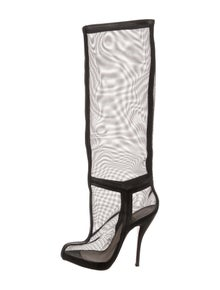 best website 693cf dd81c Christian Louboutin Leather Knee-High Boots | The RealReal