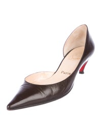 Leather Pointed-Toe Pumps image 2