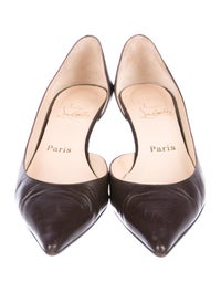 Leather Pointed-Toe Pumps image 3