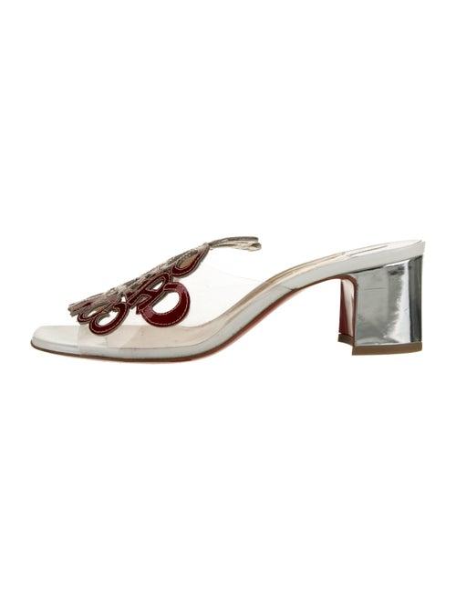 Christian Louboutin PVC Slide Sandals Clear