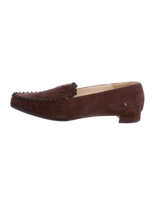 Christian Louboutin Square-Toe Loafers Suede Loafe
