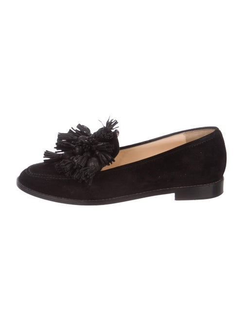 Christian Louboutin Japonaise Suede Loafers Black