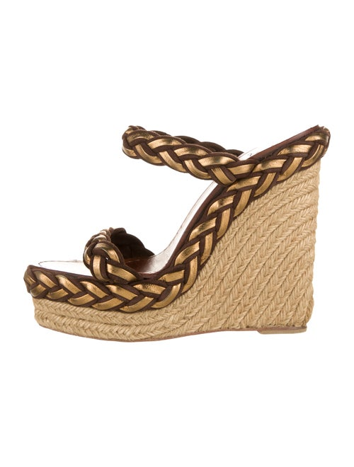 Christian Louboutin Suede Espadrilles Brown