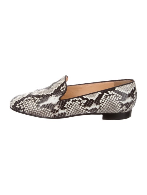Christian Louboutin Snakeskin Animal Print Loafers