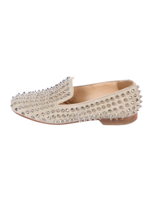 Christian Louboutin Rollerball Spike Suede Loafers