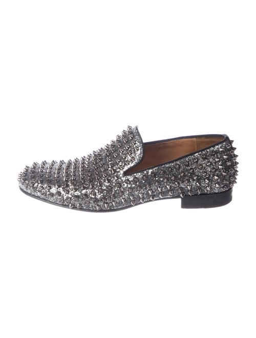 Christian Louboutin Rollerboy Spikes Glitter Loafe