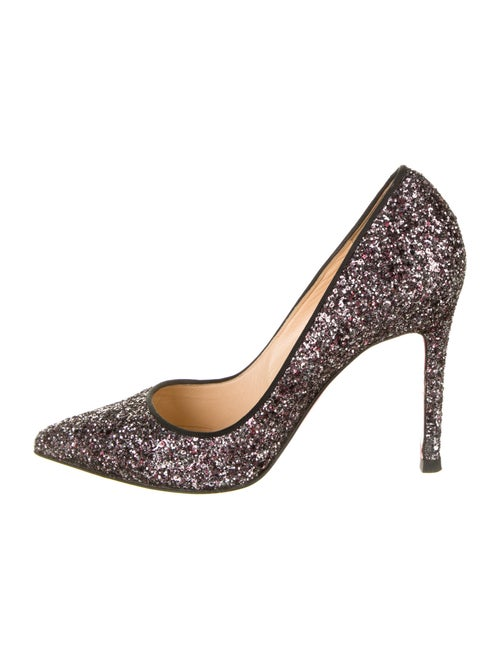 Christian Louboutin Glitter Pigalle Pumps Silver