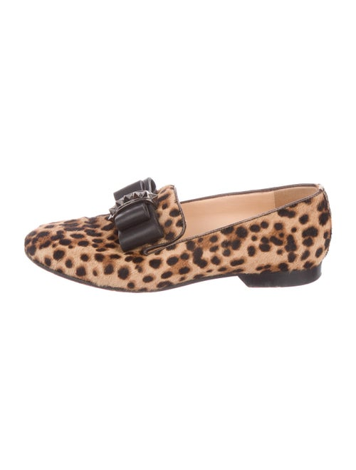 Christian Louboutin Gine Ponyhair Loafers
