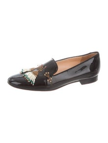 Christian Louboutin Patent Leather Graphic Print Loafers