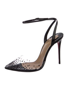 Christian Louboutin Spikaqueen 100 Patent Leather Slingback Pumps w/ Tags
