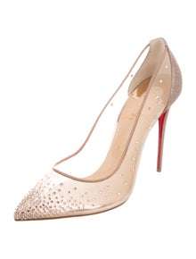 Christian Louboutin Follies Strass 100 Crystal Embellishments Pumps w/ Tags