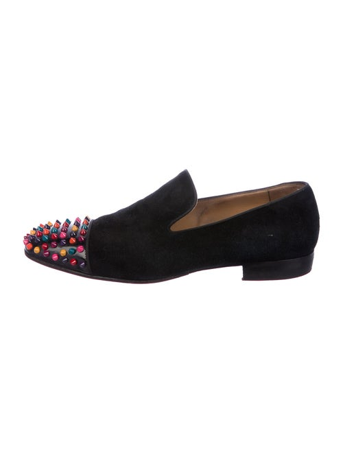 Christian Louboutin Spike Suede Loafers black