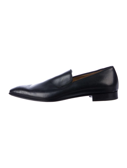 Christian Louboutin Leather Dress Loafers Black