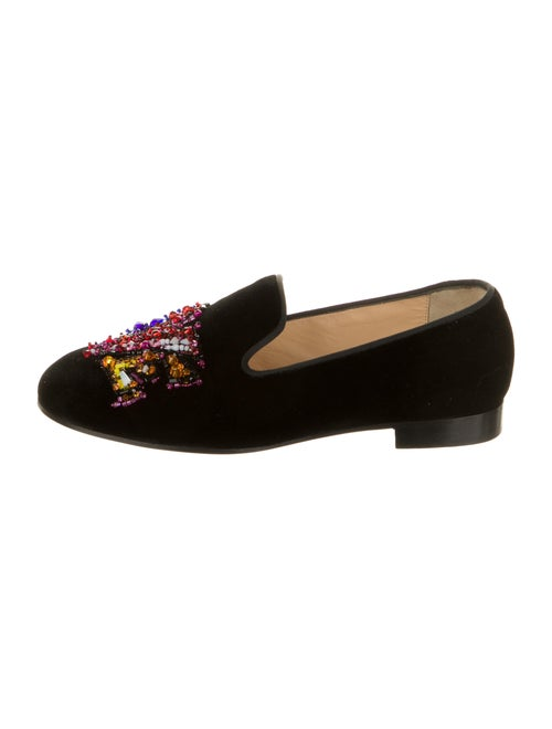 Christian Louboutin Printed Beaded Accents Loafers