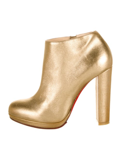 Christian Louboutin Leather Boots Gold