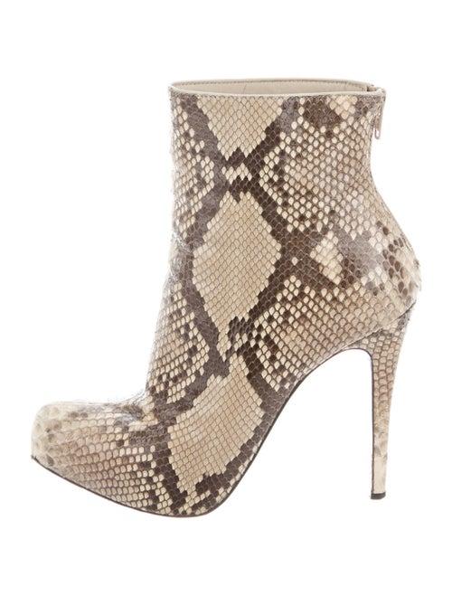 Christian Louboutin Snakeskin Boots