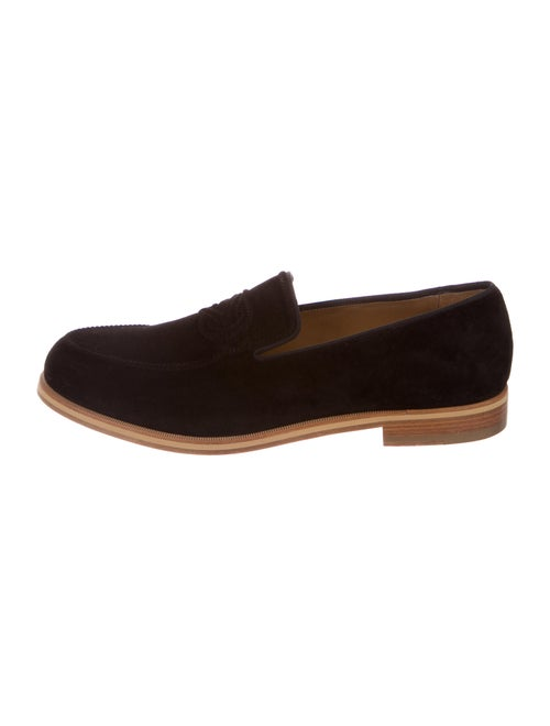 Christian Louboutin Suede Loafers Black