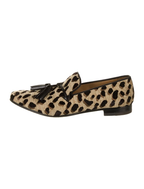Christian Louboutin Animal Print Tassel Accents Lo