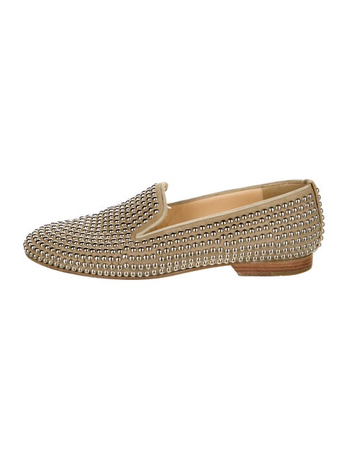 Christian Louboutin Suede Studded Accents Loafers