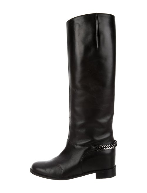 Christian Louboutin Cate Leather Riding Boots Blac