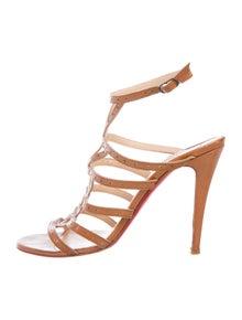 Christian Louboutin Leather Lasercut Accents Sandals