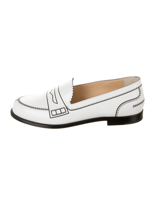 Christian Louboutin Leather Loafers White