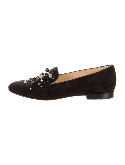 Christian Louboutin Suede Embroidered Accent Loafe