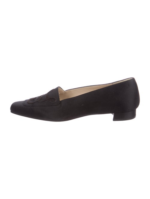 Christian Louboutin Embroidered Accent Loafers Bla