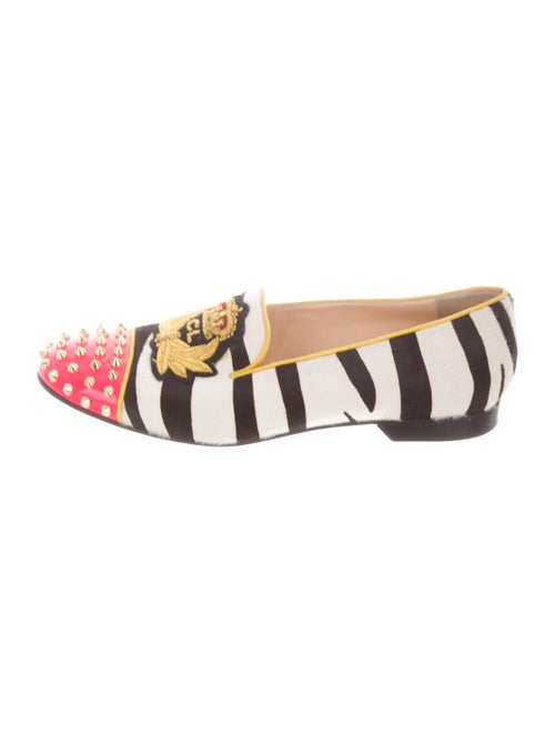 Christian Louboutin Rollerboy Ponyhair Loafers Whi