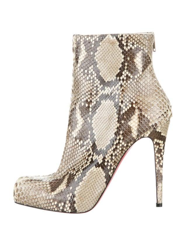 hot sale online 9de42 ca7f3 Christian Louboutin Snakeskin Boots