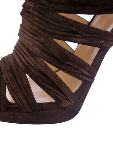 Suede Cage Booties