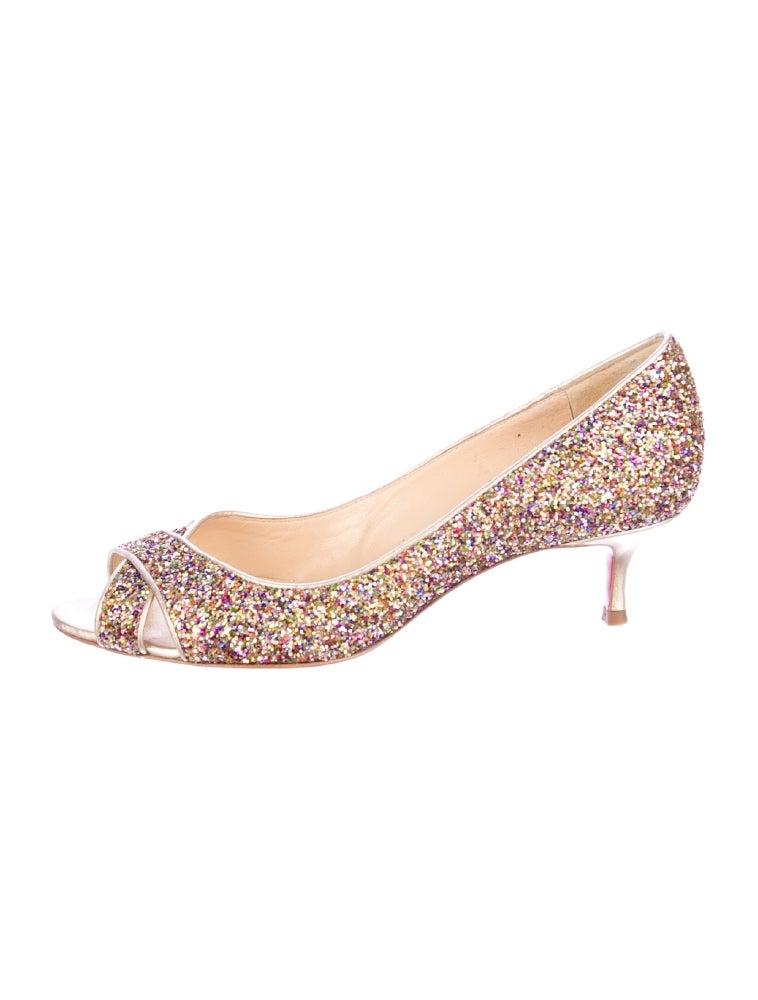 Pink Glitter Kitten Heels - The Cutest Kittens