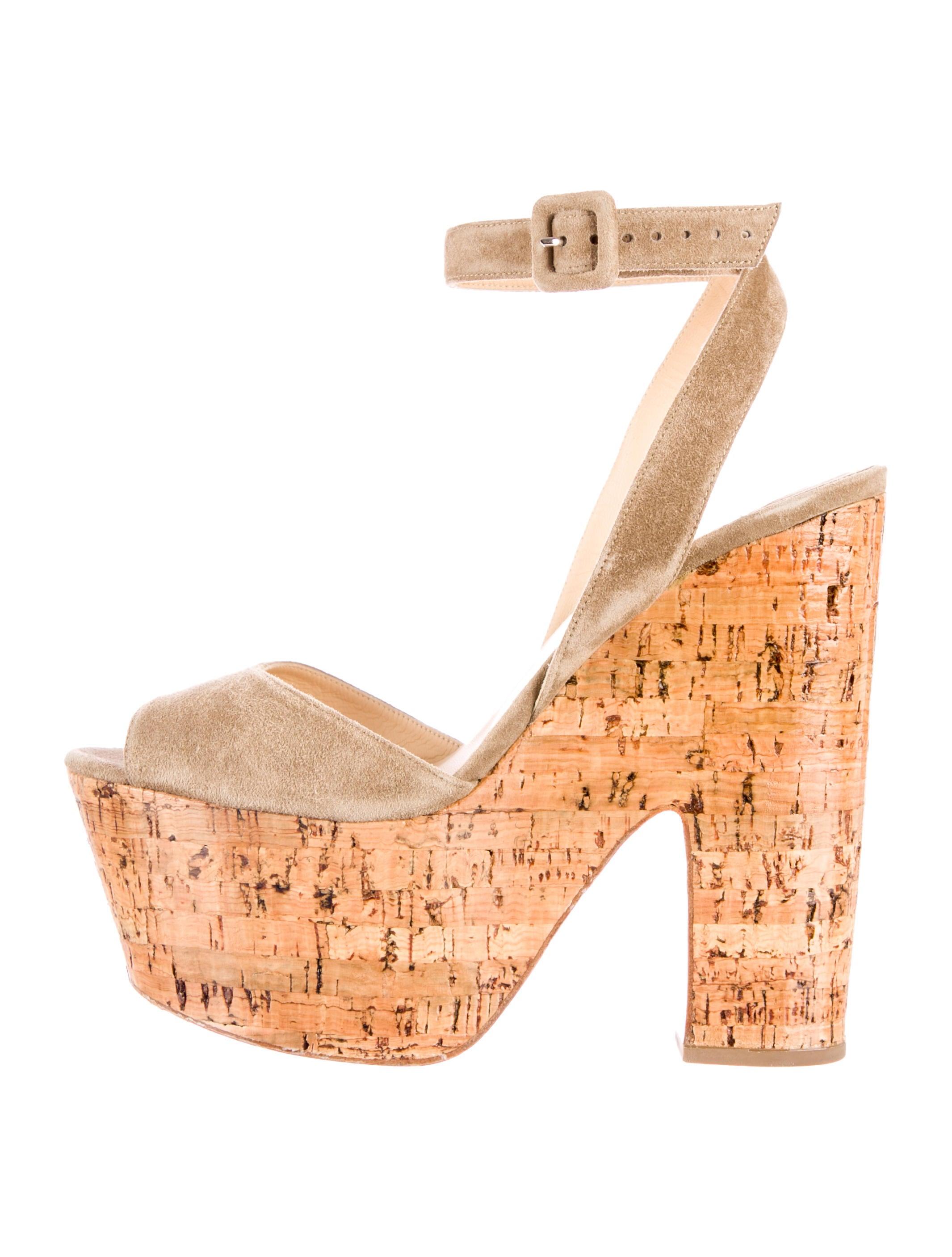 christian louboutin cork platform sandals