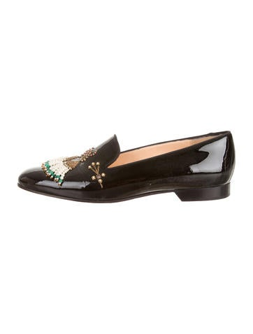 Christian Louboutin Mikarani Patent Leather Loafers shop big sale cheap online sneakernews online low cost for sale Jdqp8
